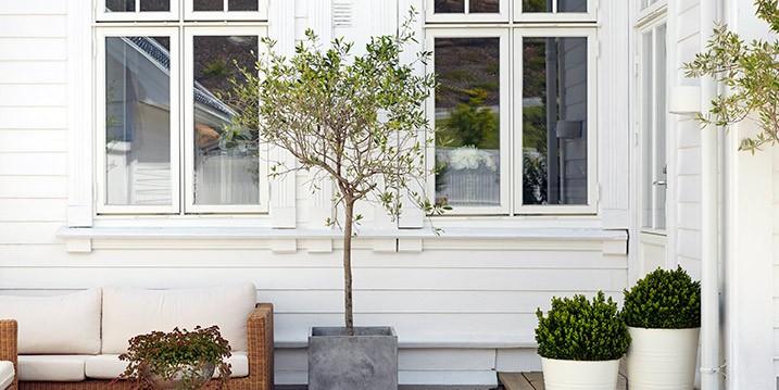 Utomhusfärg speciellt utvecklad för vita hus!