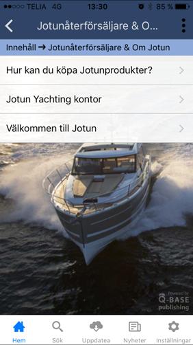 Jotun Yachting båtvårdsapp