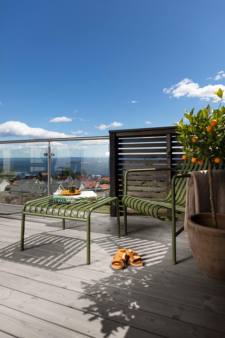 Enkelt att ändra färg på terrassen