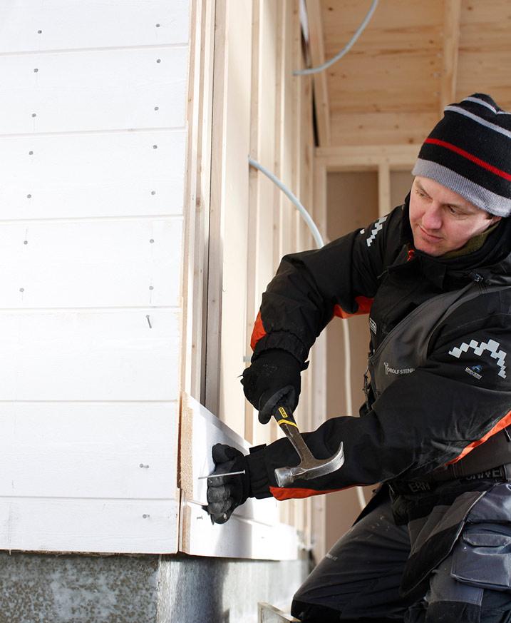 Bygga hus eller byta fasad i vinter?