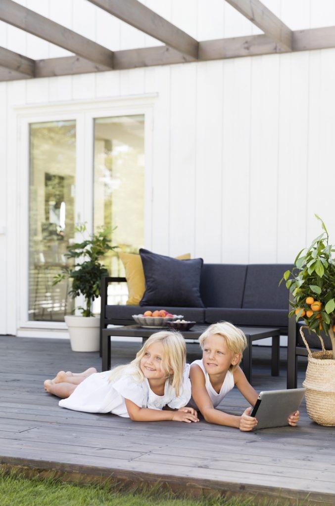 Skapa goda zoner på terrassen