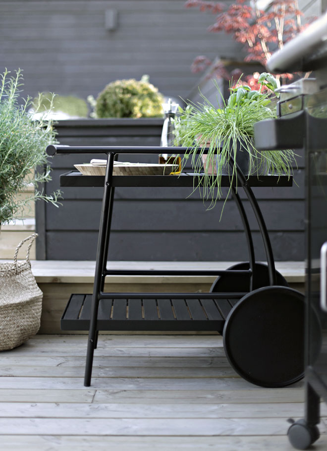 Terrassetrender 2018 Stylizimo serveringsvagn från IKEA,