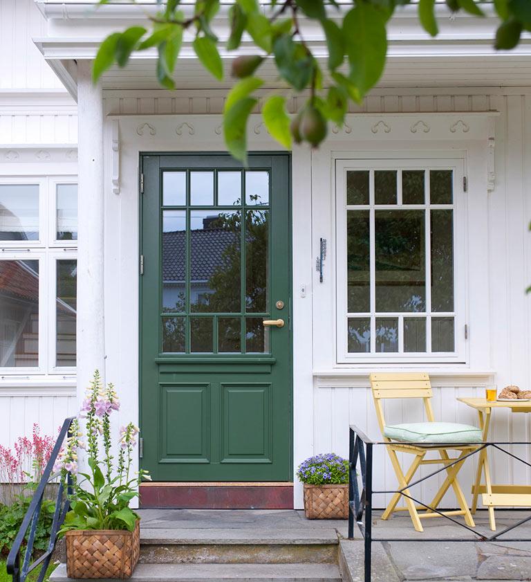 Fler och fler hittar grönfärger som utomhusfärger.