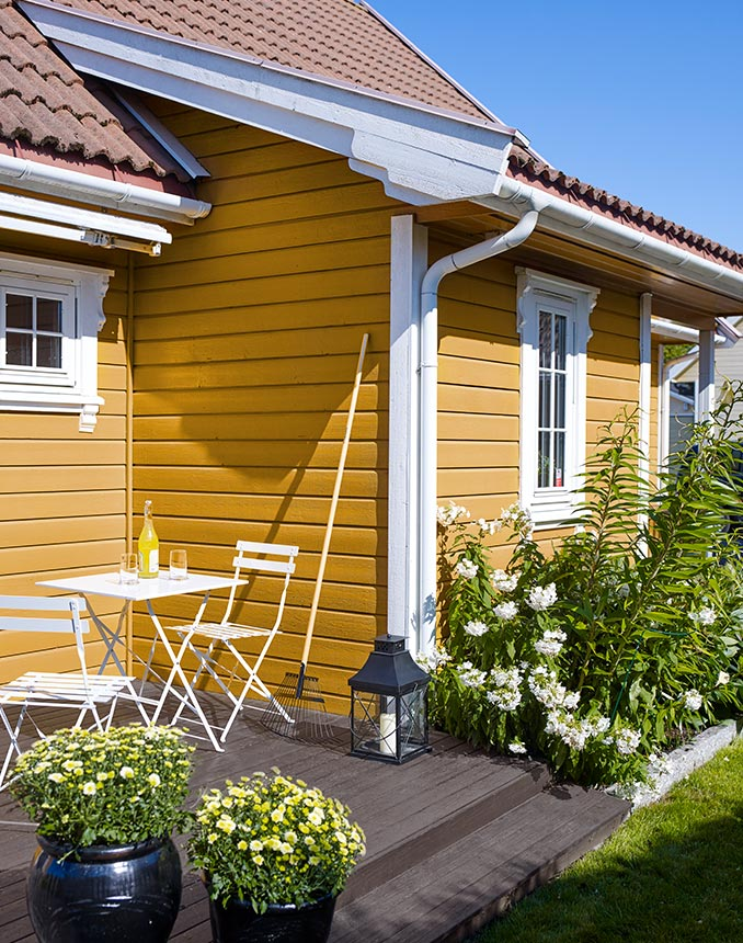 Välj en gul färg på huset
