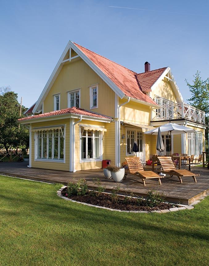 Vackra gula husfärger