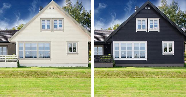 Ljus eller mörk färg på huset?