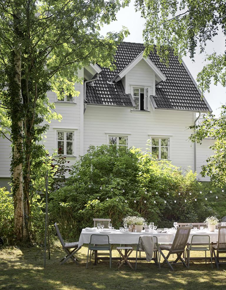 Detaljer till ett vitt hus